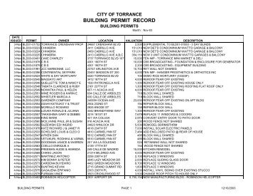 City Of Torrance Building Permits