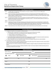 Special Events Permit - City of Torrance