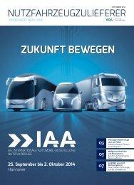 ZUKUNFT BEWEGEN – IAA Nutzfahrzeuge 2014 in Hannover