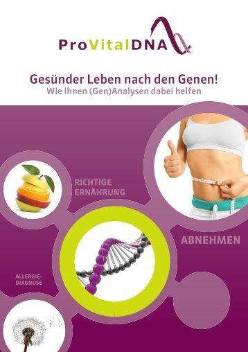 ProVitalDNA - Gesünder Leben nach den Genen!