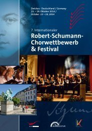 7th International Robert Schumann Choir Competition & Festival Zwickau - Program Book