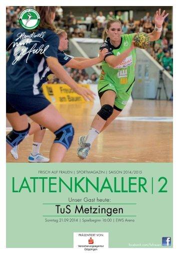 LATTENKNALLER|2 - Gast: TuS Metzingen - 21.09.2014 - Saison 2014/2015