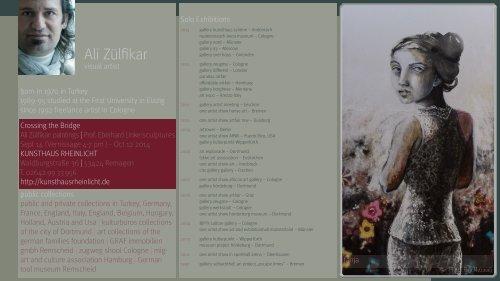 """Ali Zülfikar """"Crossing the Bridge"""" Ausstellung im Kunsthaus Rheinlicht"""