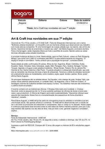 Art & Craft traz novidades em sua 7ª edição