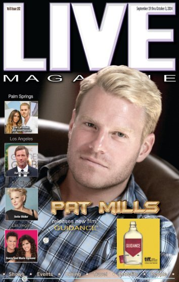 Live MAGAZINE VOL 8, Issue #192a September 19th Thru October 3rd, 2014