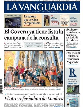 El Govern ya tiene lista la campaña de la consulta