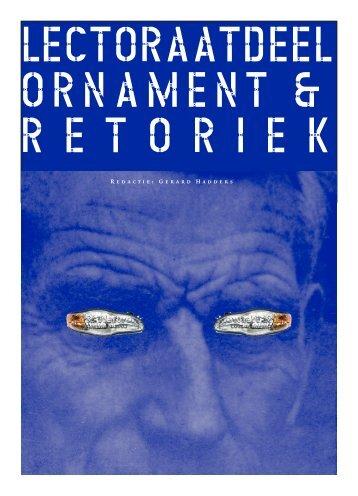Gerard Hadders: Ornament en Retoriek