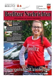 Beelitzer Nachrichten - September 2014