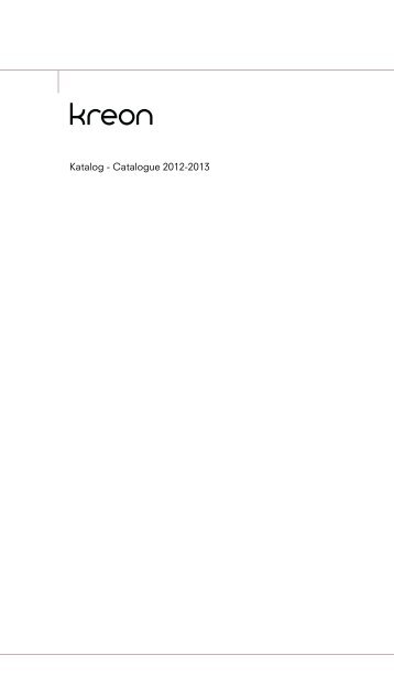 KREON Katalog - Catalogue