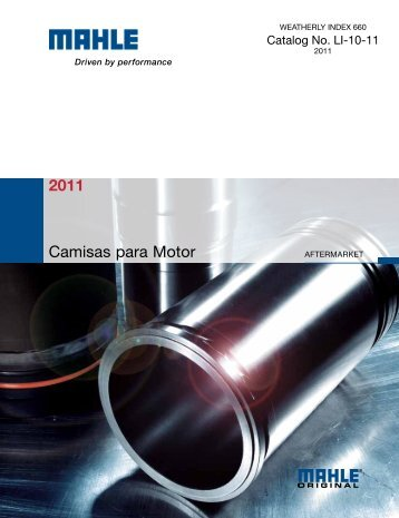 2011 Camisas para Motor