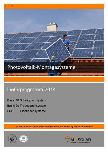 Photovoltaik-‐Montagesysteme