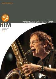 HfM-Programm 10 / 11/ 12 2014