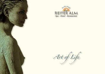 "Reiter Alm ""Art of Life"" - Hotel Brochure - August 2014"