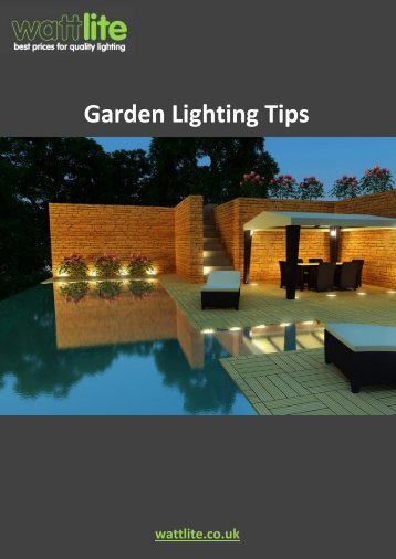 Garden Lighting Tips