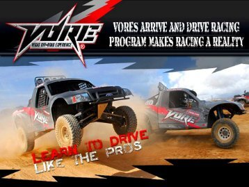 VORE's Arrive and Drive Racing Program makes racing a reality