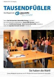 2014 Oktober / Lebenshilfe Freising / Tausendfüßler-Magazin