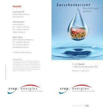 Zwischenbericht - Cropenergies