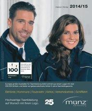 münz teamkleidung - Katalog Herbst   Winter 2014/15 - Behörde, Kommune, Feuerwehr, Airline, Verkehrsbetriebe und Schifffahrt