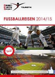 Fussballreisen Katalog 2014/15