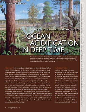 oceaN acidiFicatioN iN deep time oceaN acidiFicatioN iN deep time