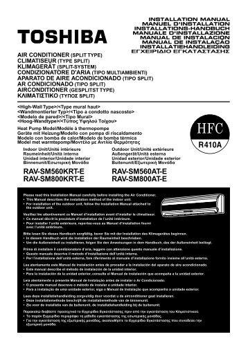 RAV-SM560KRT-E RAV-SM560AT-E RAV-SM800KRT-E RAV ...