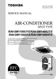 RAV-SM1100UT-E/RAV-SM1400UT-E RAV-SM1100AT-E/RAV ...