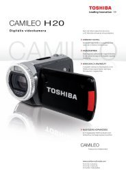Digitális videokamera - Toshiba