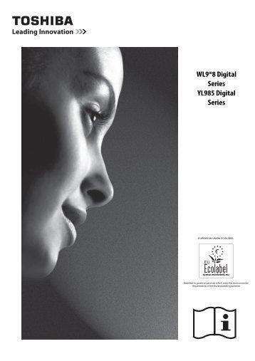 WL9*8 Digital Series YL985 Digital Series - Toshiba-OM.net
