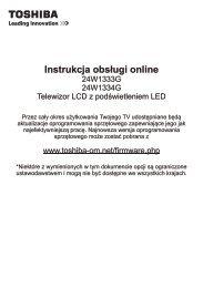 Instrukcja obsługi online - Toshiba-OM.net