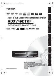 RDXV49DTKF - Toshiba-OM.net