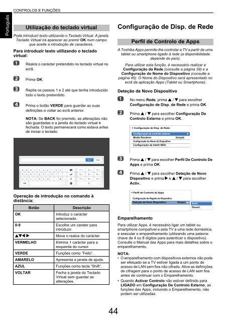 MANUAL DO UTILIZADOR - Toshiba-OM.net