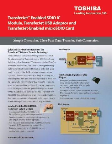 TransferJet™ Enabled SDIO IC Module, TransferJet USB Adaptor ...
