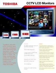 CCTV LCD Monitors - Toshiba
