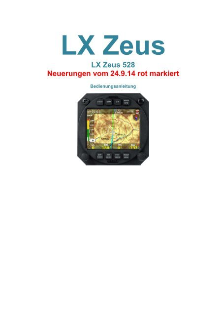 LX Zeus 528 Bedienungsanleitung