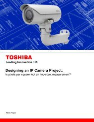 Designing an IP Camera Project: - Toshiba