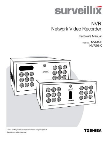 Network Video Recorder NVR - Toshiba