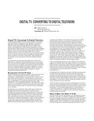DIGITAL TV: CONVERTING TO DIGITAL TELEVISION - total-av.com