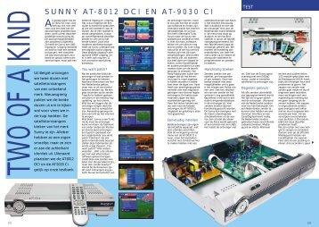 SUNNY AT-8012 DCI EN AT-9030 CI - Totaal TV
