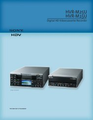 HVR-M25U HVR-M15U - total-av.com