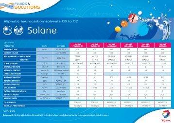 Fiche SOLANE aliphatique C5-C7