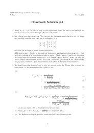Homework Solution #4