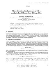 Three-dimensional surface recovery with a regularized multi-frame ...