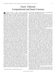 Guest Editorial Computational and Smart Cameras - Department of ...