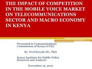 the impact of competition in the mobile voice market on ...