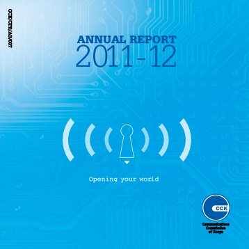 ANNUAL REPORT - Communications Commission of Kenya