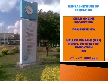 Presentation by Kenya Institute of Education - Communications ...