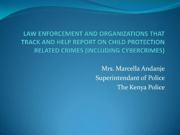 law enforcement and organizations that track and help report on ...