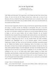 2. Kor 6 1-10 (Invocavit 2012) - Evangelische Johannesgemeinde ...