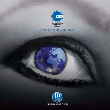 Annual Report 2008/2009 - Communications Commission of Kenya