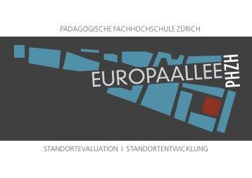 PHZH EUROPAALLEE - Standortevaluation / Standortentwicklung